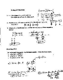 All Homework - Intensive Mathematics - Hialeah Senior High